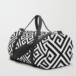black and white pattern , Greek Key pattern -  Greek fret design Duffle Bag