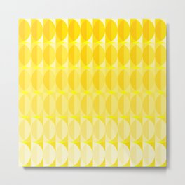 Leaves in the sunlight - a pattern in yellow Metal Print