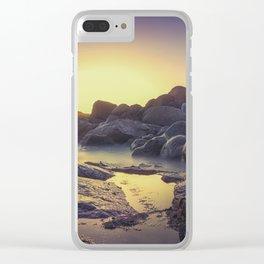 Ocean between the rocks II Clear iPhone Case