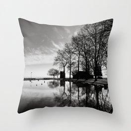 Balaton - reflection Throw Pillow