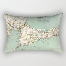 Cap Cod and Vicinity Map Rectangular Pillow