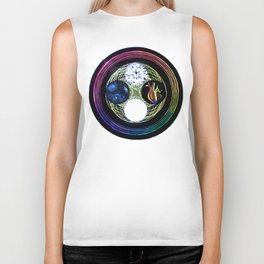 Space and Light Biker Tank