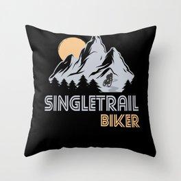 Singletrail Biker Cyclist Cyclist Gift Throw Pillow