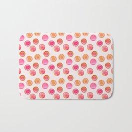 Tennis Balls / Coral / Pink / Pattern Watercolor Bath Mat