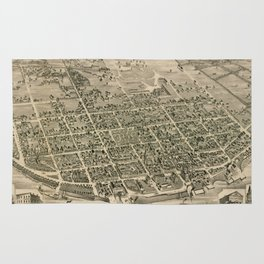 Vintage Pictorial Map of Fredericton New Brunswick (1882) Rug
