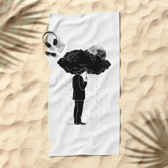My life is a Storm Beach Towel