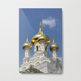Onion Domes Alexander Nevsky Cathedral Metal Print