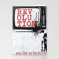 revolution Stationery Cards featuring revolution by J Maurice