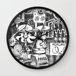 DINNER TIME FOR THE ROBOT Wall Clock