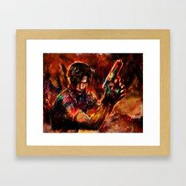 leon kennedy Framed Art Print