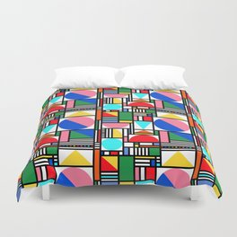 Bauhaus Village Duvet Cover
