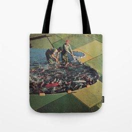 Salmon Farm Tote Bag
