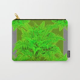 REFRESHING  NATURAL GREEN FERNS  GREY ART Carry-All Pouch