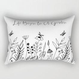 Life Began In A Garden Rectangular Pillow