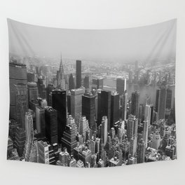 New York City Black and White Wall Tapestry