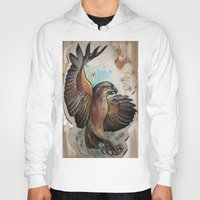 hawk Hoodies featuring Hawk by ChaniMurat