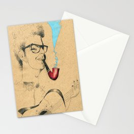 Musician Guitar and pipe Stationery Cards