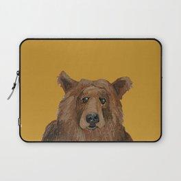 Bear on mustard Laptop Sleeve