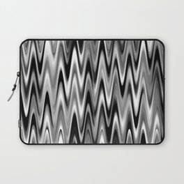 WAVY #1 (Black, White & Grays) Laptop Sleeve