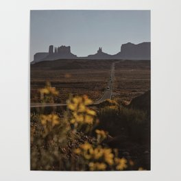 Monument Valley Flowers Poster
