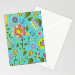 Petty Floral Pattern 3 Stationery Cards