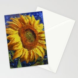 Sunflower In Van Gogh Style Stationery Cards
