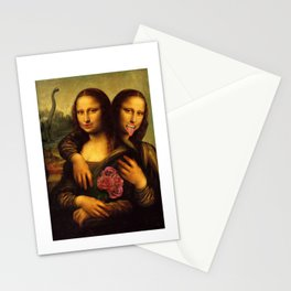 Monalisa Twins Stationery Cards