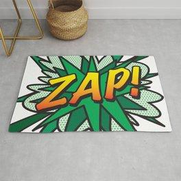 ZAP Comic Book Flash Pop Art Modern Cool Fun Graphic Rug
