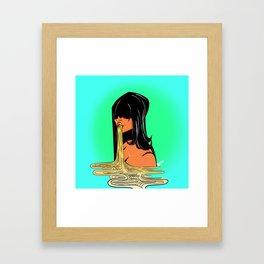 Ramen Girl Framed Art Print