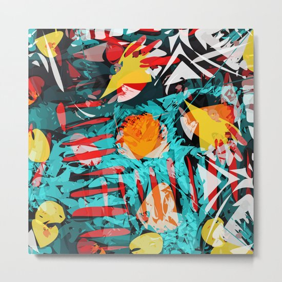 abstract colored chaos Metal Print