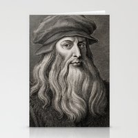 da vinci Stationery Cards featuring Leonardo da Vinci by Palazzo Art Gallery
