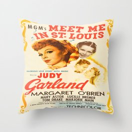 Vintage poster - Meet Me in St. Louis Throw Pillow