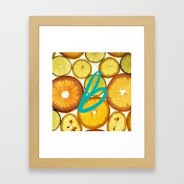 Citrus - Citron (Recettes du Bonheur) Framed Art Print