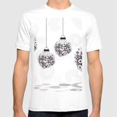 Modern Christmas balls CB MEDIUM Mens Fitted Tee White