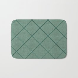 Stitched Diamond Geo Grid in Green Bath Mat