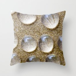 Colorful liquid droplets and blurs  Throw Pillow