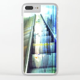 Light Escalator - Double Exposure Clear iPhone Case