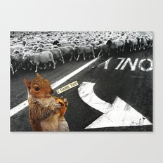 You Don't Have To Follow The Crowd Canvas Print