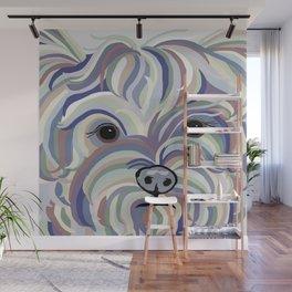 Yorkie Denim Colors Wall Mural