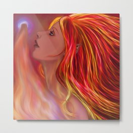 Flame Maiden Metal Print