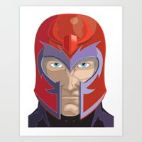 magneto Art Prints featuring Magneto by Jconner