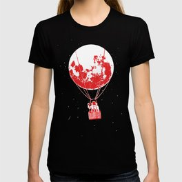 space moon balloon Astronaut T-shirt