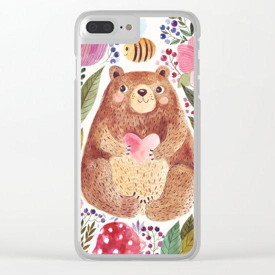 bear 2 Clear iPhone Case