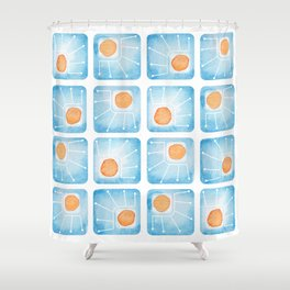 Watecolor Squares Shower Curtain