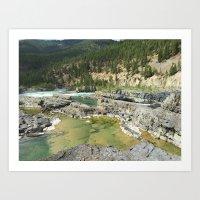 Kootenai Falls Art Print