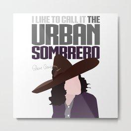 The Urban Sombrero Metal Print