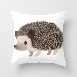 Cute Hedgehog Throw Pillow