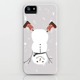 Snowman Yoga - Handstand iPhone Case