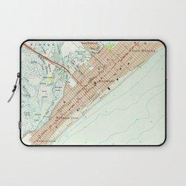Vintage Map of Wildwood NJ (1955) Laptop Sleeve