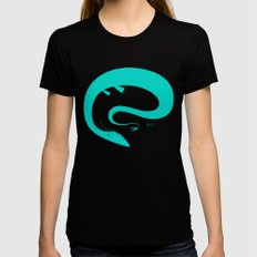 O is for Ogopogo Womens Fitted Tee Black LARGE